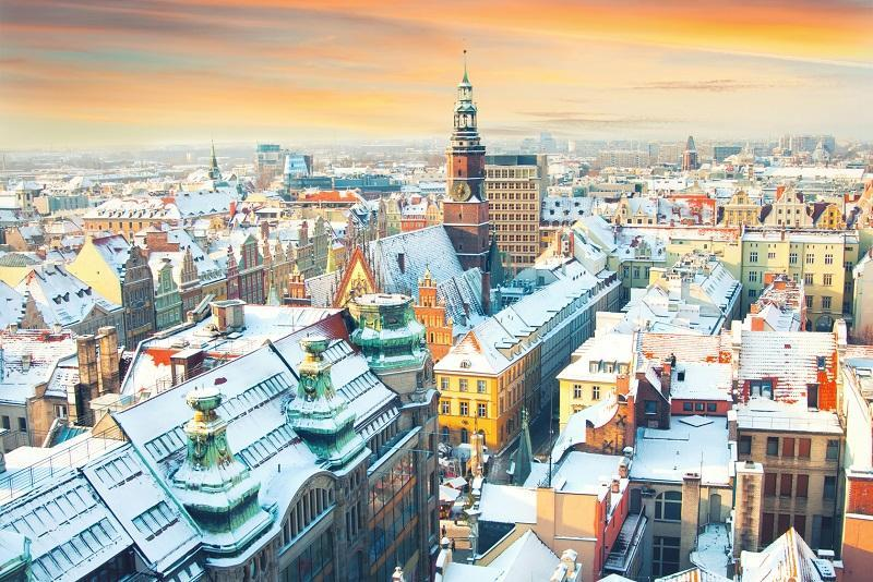 Wrocław zimą